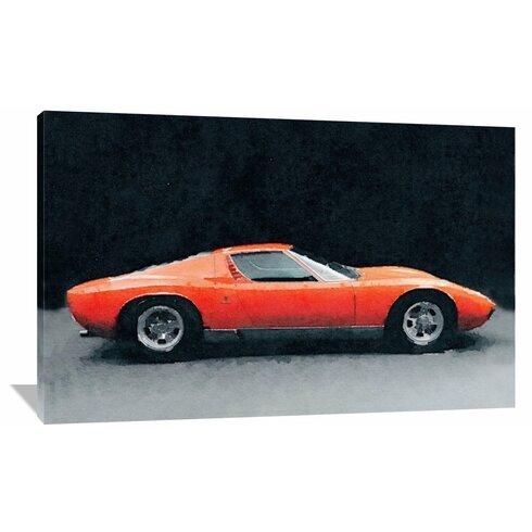 U00271971 Lamborghini Miura P400 Su0027 Graphic Art On Wrapped Canvas