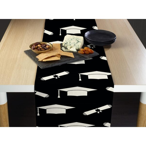 Escobar Graduation Cap and Diploma Milliken Signature Table Runner by The Holiday Aisle