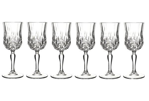 Opera White Wine Glass (Set of 6) by Lorren Home Trends