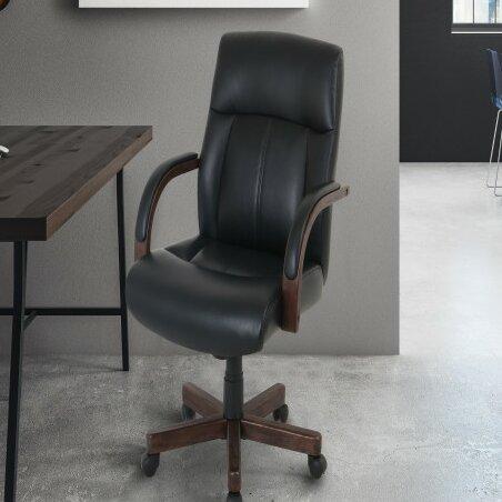 Haugen Wood-Trim Office Chair by Red Barrel Studio