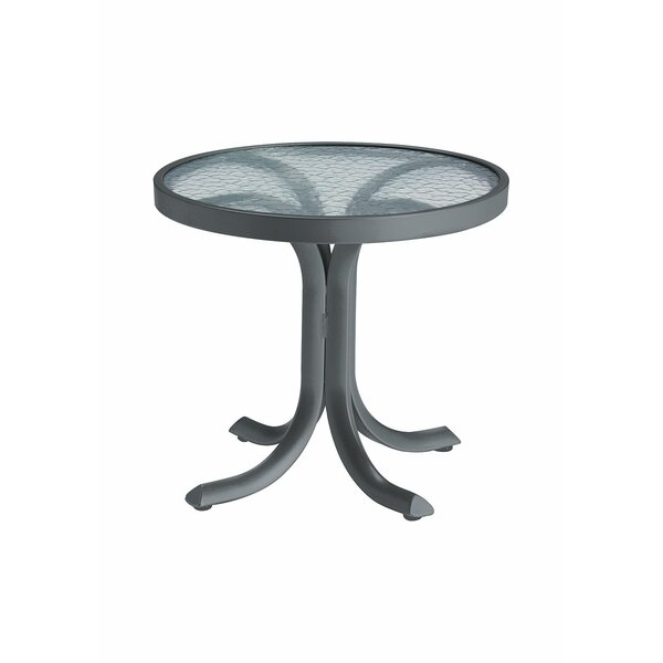 LaStratta Glass Side Table by Tropitone