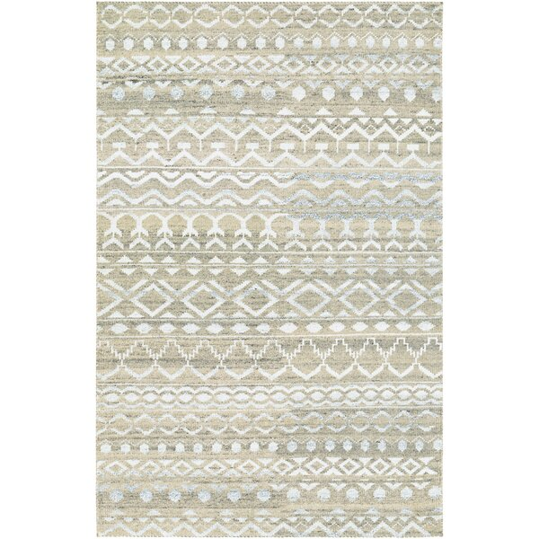 Cargile Hand-Knotted Natural/Beige Area Rug by Charlton Home