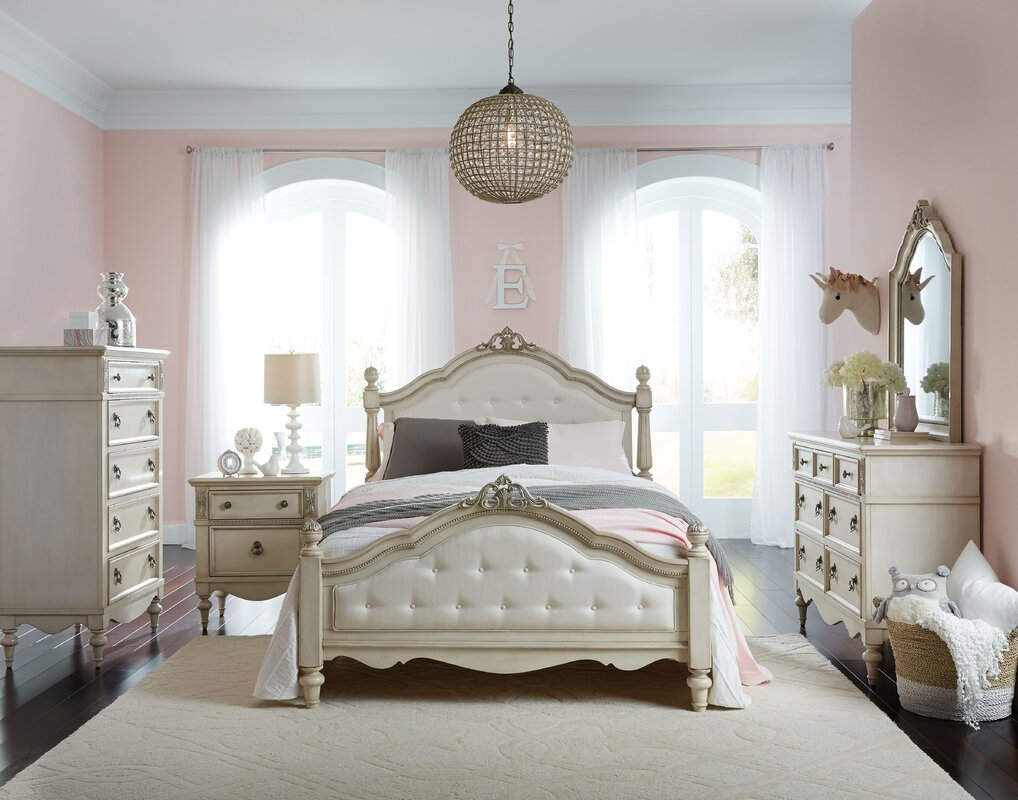 Stool but not sure of the bed do you like it too 2 princess bedroom - Tilio Panel Configurable Bedroom Set