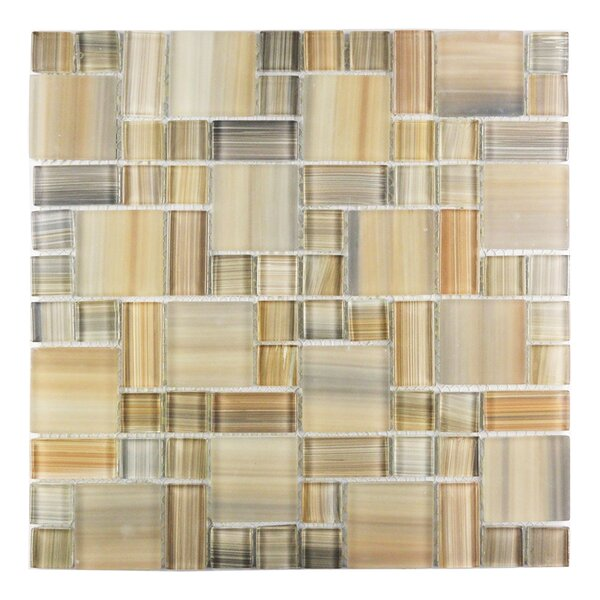 Handicraft II Random Sized Glass Mosaic Tile in Glazed  Desert by Abolos