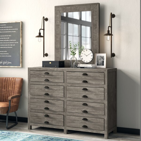Dag 8 Drawer Double Dresser with Mirror by Trent Austin Design