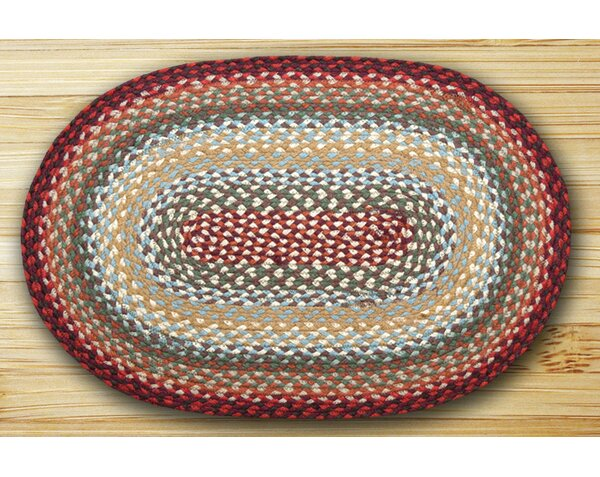 Thistle Oval Braided Red Area Rug by Earth Rugs