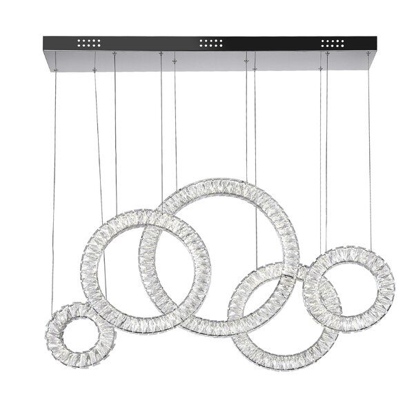 Celina LED Crystal Chandelier by CWI Lighting
