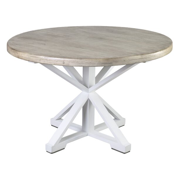 Best Choices Stringer Two Tone Solid Wood Dining Table By Gracie Oaks No Copoun
