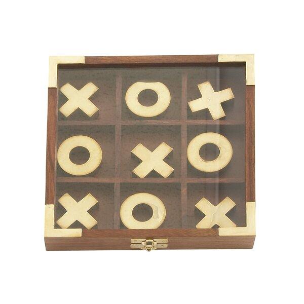 Wood Tic Tac Toe Box by Cole & Grey