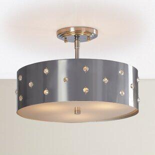Affordable Imogen 3-Light Semi Flush Mount By House of Hampton