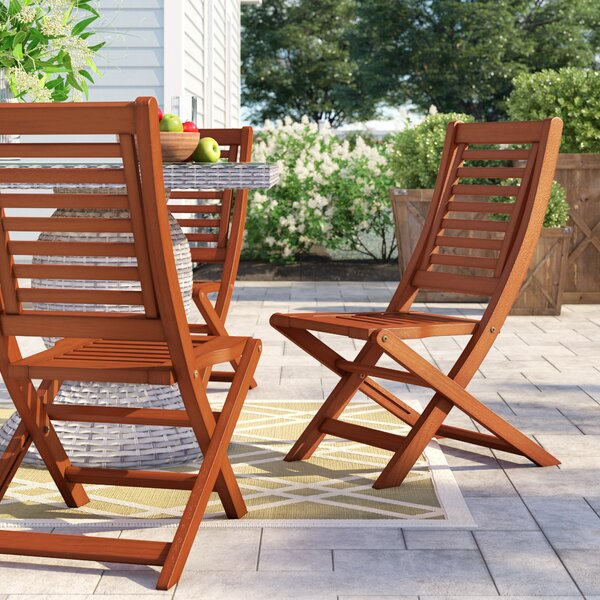 Brighton Folding Patio Dining Chair (Set of 2) by Sol 72 Outdoor