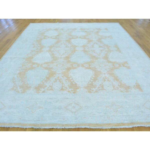 One-of-a-Kind Beattie Peshawar Hand-Knotted Brown Wool Area Rug by Isabelline
