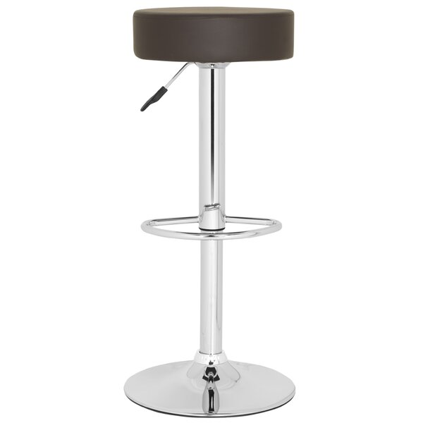 Jude Adjustable Height Swivel Bar Stool by Safavieh