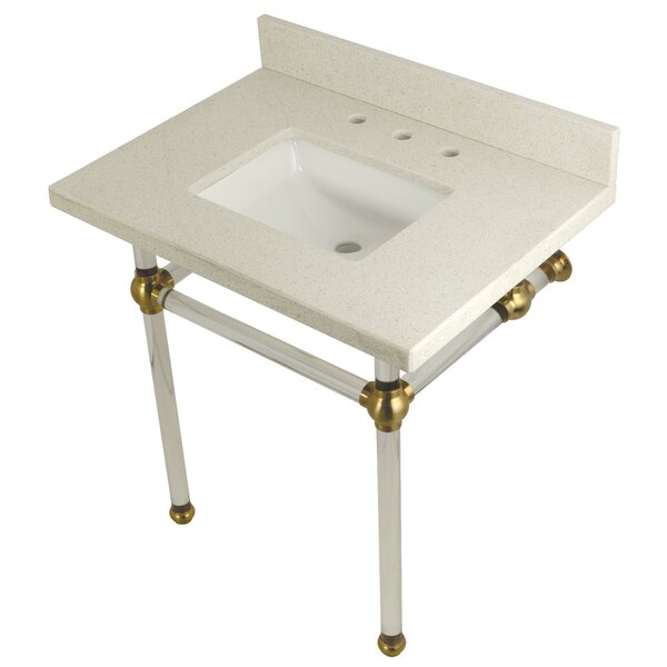 Quartz 22 Single Bathroom Vanity Set by Kingston Brass