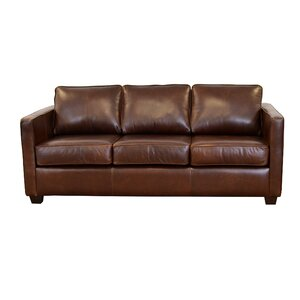 Salisbury Genuine Top Grain Leather Sofa by Westland and Birch