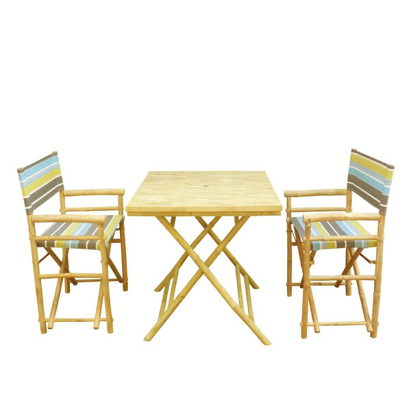 3 Piece Bistro Set by Highland Dunes