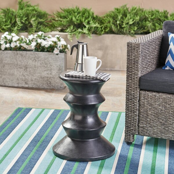 Stone/Concrete Side Table By Bungalow Rose by Bungalow Rose Herry Up
