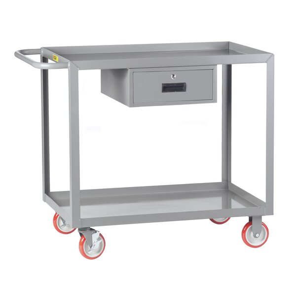 24 x 41.5 Welded Utility Cart with Storage Drawer by Little Giant USA