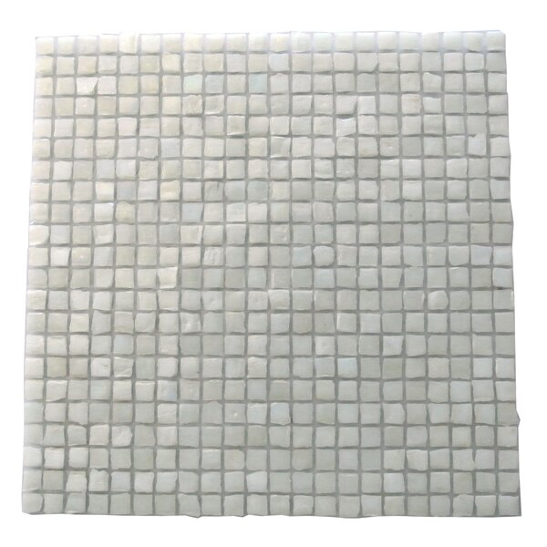 Ecologic 0.38 x 0.38 Glass Mosaic Tile in White by Abolos