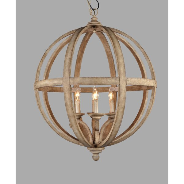 Vinson 4 - Light Unique / Statement Globe Chandelier With Crystal Accents By One Allium Way