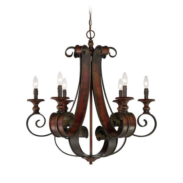 Jaime 6-Light Candle Style Empire Chandelier by Fleur De Lis Living Fleur De Lis Living