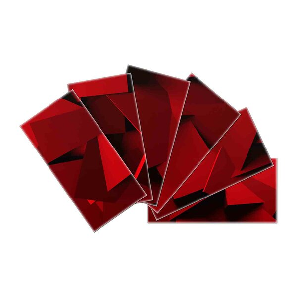 Crystal Skin 3 x 6 Glass Subway Tile in Red by SkinnyTile