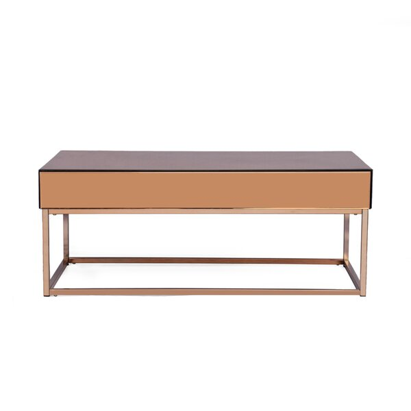 Mcchristian Modern Glam Coffee Table with Storage by Wrought Studio