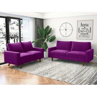 Love 2 Piece Velvet Living Room Set by Kingway INC