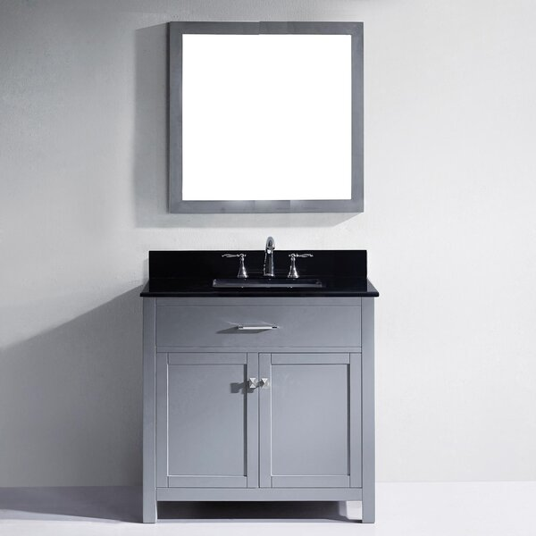 Kenilworth 36 Single Bathroom Vanity Set Mirror by Highland Dunes