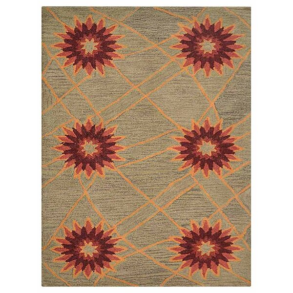 Johansson Floral Hand-Tufted Wool Cream Area Rug by Latitude Run