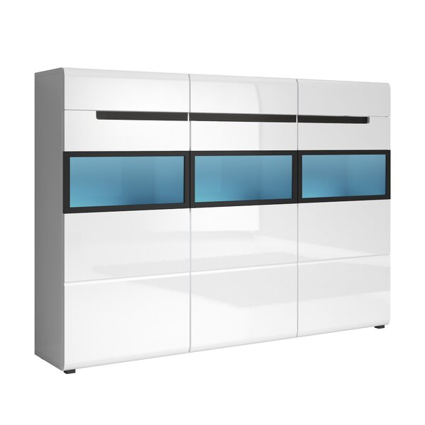 Korina Gloss 3 Door Accent Cabinet By Orren Ellis