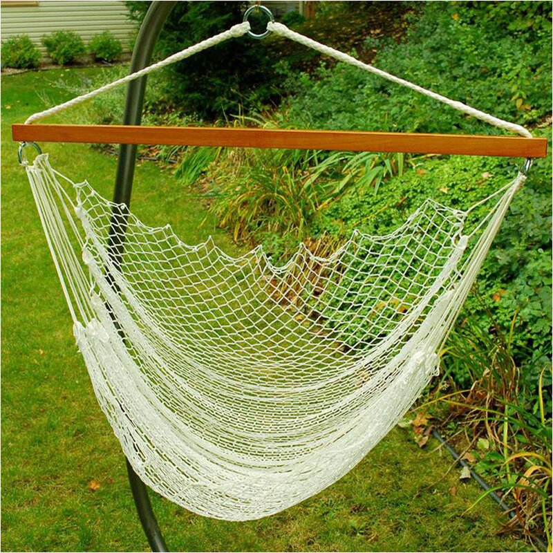 nylon rope chair hammock algoma    pany nylon rope chair hammock  u0026 reviews   wayfair  rh   wayfair