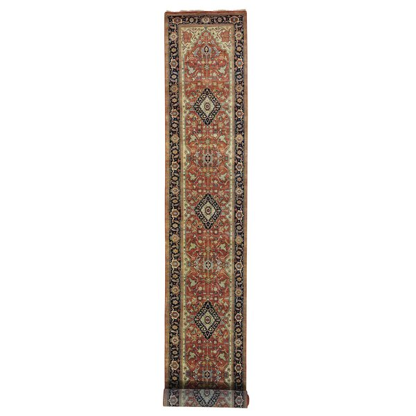 One-of-a-Kind Rueter Re-creation Hand-Knotted Rust Red Area Rug by Astoria Grand