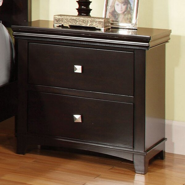 Coppola 2 Drawer Nightstand by Charlton Home