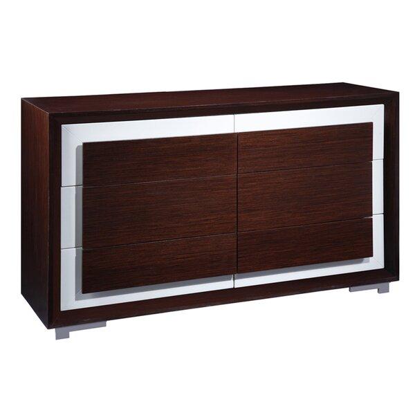 Cj 6 Drawer Double Dresser by Allan Copley Designs