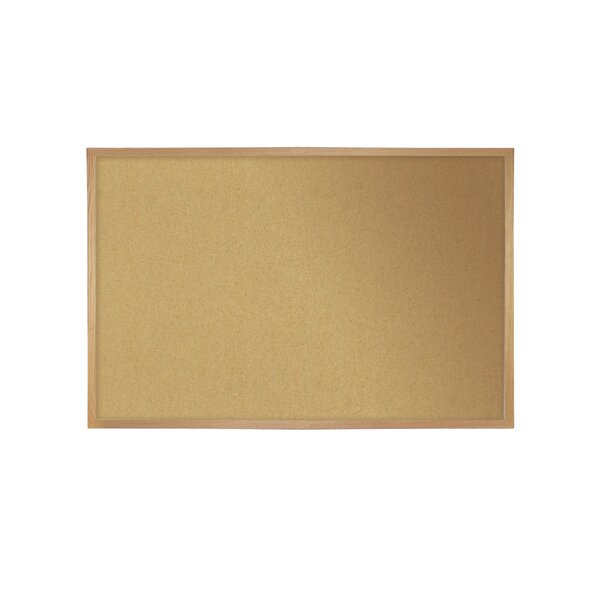 Ghent Premium Natural Cork Bulletin Board with Wood Frame by Ghent