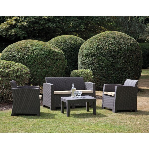 Starke 4 Piece Sofa Seating Group with Cushions by Brayden Studio