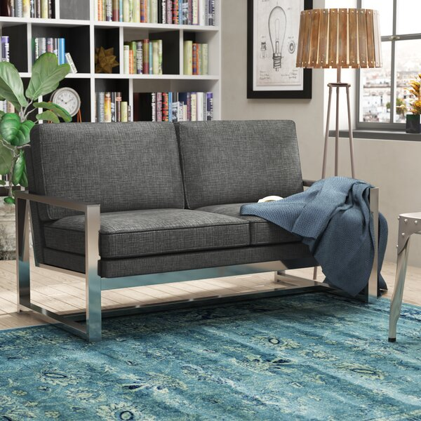 Adalbert Contemporary Metal Loveseat by Trent Austin Design