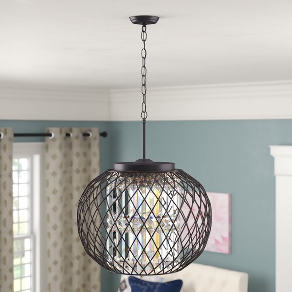 Aichele 3 - Light Unique / Statement Globe Chandelier by Everly Quinn Everly Quinn