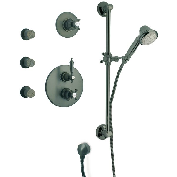 Ornellaia Volume Thermostatic Valve Shower System by LaToscana