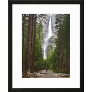 'Upper and Lower Yosemite Falls. Yosemite National Park, CA' Framed Photographic Print by Art.com