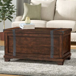 Charming Hebbville Storage Trunk Table