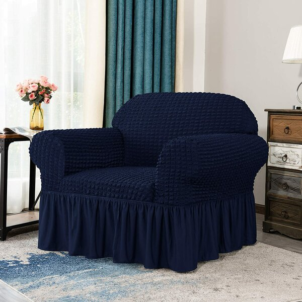 Seersucker Box Cushion Armchair Slipcover By Winston Porter