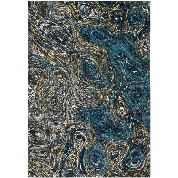 Callisto Blue Area Rug by Wade Logan