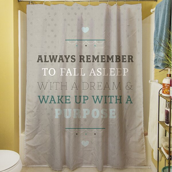 Purposeful Dream Shower Curtain by Manual Woodworkers & Weavers