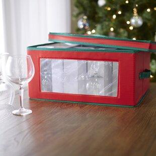 Wayfair Basics Red Wine Glass Storage Chest