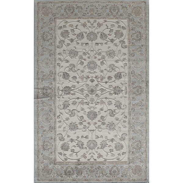 Sheldon Ivory/Blue Area Rug by Threadbind