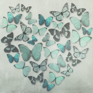 Butterfly Love Graphic Art on Canvas by Arthouse