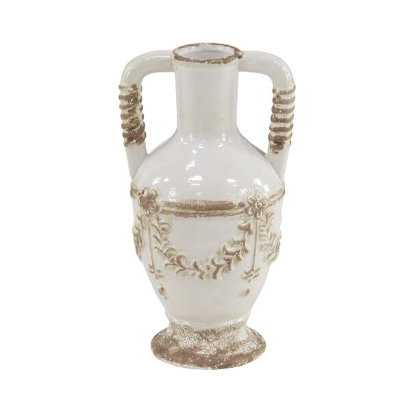 Chadbury Rustic Distressed Stoneware Table Vase by Ophelia & Co.