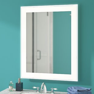 Inexpensive Hadrian Edge Electric Bathroom/Vanity Mirror By Latitude Run
